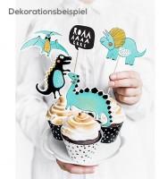 """Cupcake-Topper """"Dinoparty"""" - 10-20 cm - 5 Stück"""