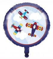 "Runder Folienballon ""Flugzeuge"""