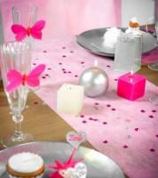 Tischläufer aus Vlies - rosa - 30 cm x 10 m
