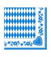 """XXL-Servietten """"Bayrisch Blau"""" - 50 Stück"""