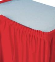 Tischverkleidung - rot - 4,26 m