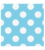 "Servietten ""Big Dots"" - Powder Blue - 16 Stück"