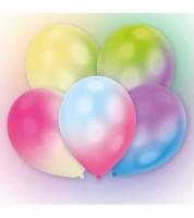 Leucht-Ballons mit bunten LED - weiß - 5 Stück