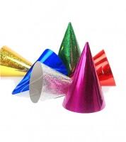 Holographic-Partyhüte - bunt - 20 Stück
