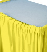 Tischverkleidung - gelb - 4,26 m