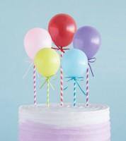 """Cake Topper """"Mini Ballons"""" - bunt - 5-teilig"""