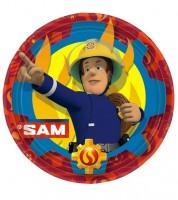 """Pappteller """"Feuerwehrmann Sam Einsatz"""" - 8 Stück"""