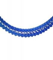 Seidenpapiergirlande - dunkelblau - 4 m