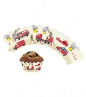 """Cupcake-Wrapper """"Feuerwehreinsatz"""" - 12 Stück"""