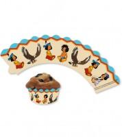 "Cupcake-Wrapper ""Yakari"" - 12 Stück"