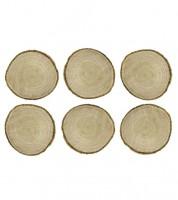 Kleine Baumscheiben - 4,5-6,5 cm - 6 Stück