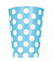 "Pappbecher ""Big Dots"" - Powder Blue - 6 Stück"