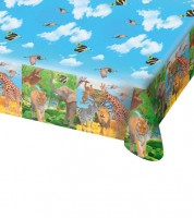 "Kunststoff-Tischdecke ""Safari-Party"" - 130 x 180 cm"