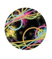 """Kleine Pappteller """"Neon Party"""" - 8 Stück"""