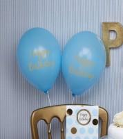 "Luftballons ""Happy Birthday"" - hellblau - 8 Stück"