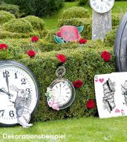 "Photobooth-Props ""Alice im Wunderland"" - 8-teilig"