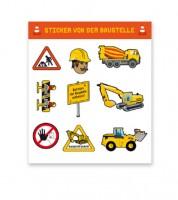 "Sticker-Set ""Baustelle"" - 8 Stück"