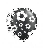 """Luftballon-Set """"Fußball"""" - schwarz/weiß - 8 Stück"""
