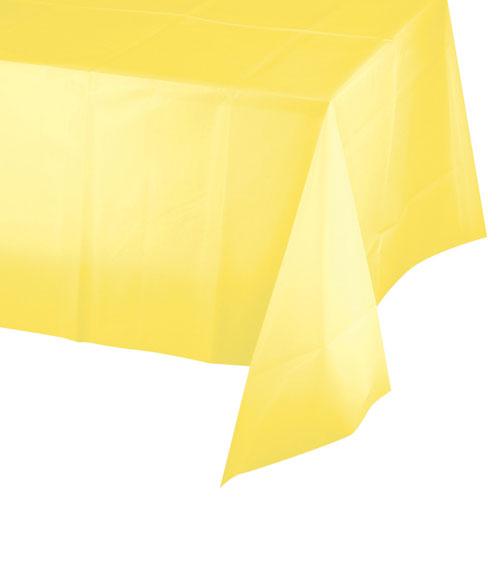 Gelbe Bilder gelbe kunststofftischdecke 137 x 274 cm pink dots partystore