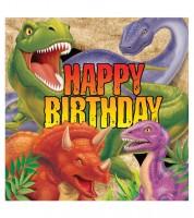 """Servietten """"Dinosaurier Happy Birthday"""" - 16 Stück"""