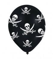 """Luftballons """"Piratenparty"""" - schwarz - 6 Stück"""