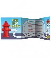 """Einladungskarten """"Feuerwehr"""" - 8 Stück"""