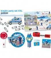 """Kreativ-Partyset XXL """"Polizei"""" für 6 Personen"""