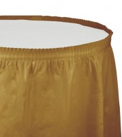 Tischverkleidung - shimmering gold - 4,26 m