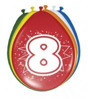 """Luftballon-Set """"8 Jahre"""" - bunt - 8 Stück"""