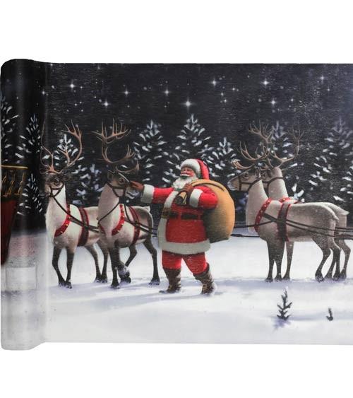 """Tischläufer """"Weihnachtsmann"""" - 30 cm x 5 m"""