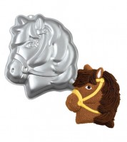 "Backform aus Aluminium ""Pferd"" - 34 x 25 cm"