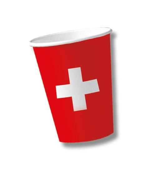 """Pappbecher """"Schweiz"""" - 10 Stück"""