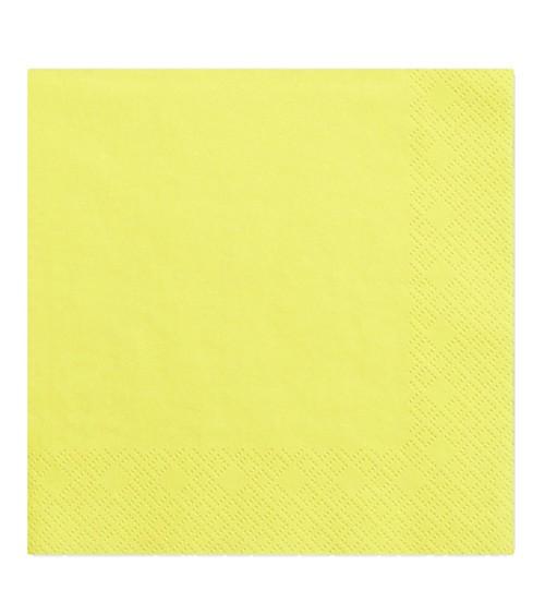 Servietten - gelb - 20 Stück