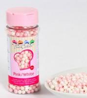 FunCakes Zuckerperlen - rosa/weiß - 60g
