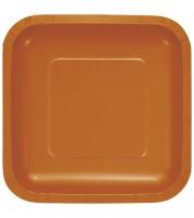 Eckige Pappteller - pumpkin - 18 Stück