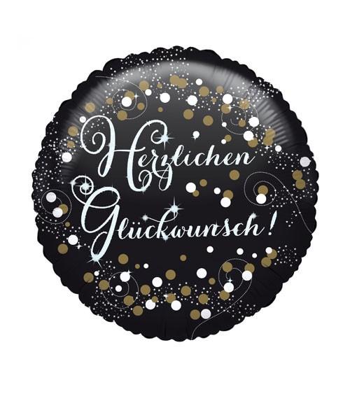 """Runder Folienballon """"Sparkling Celebration"""" - Herzlichen Glückwunsch"""