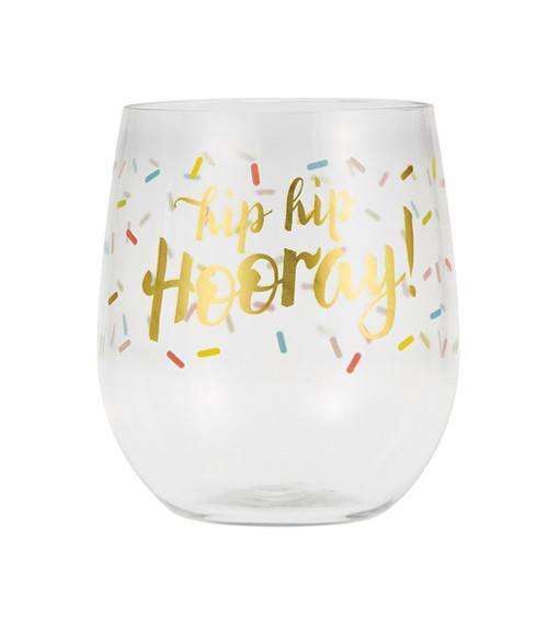 "Plastikglas ""Hip Hip Hooray"""