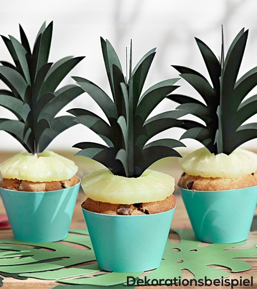 "Cupcake-Picks ""Aloha Party"" - 6 Stück"