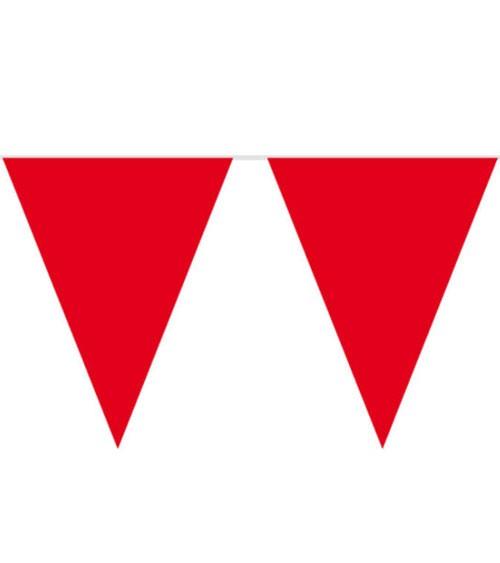 XL-Wimpelgirlande aus Kunststoff - rot - 10 m