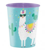 "Plastikbecher ""Lama Party"""