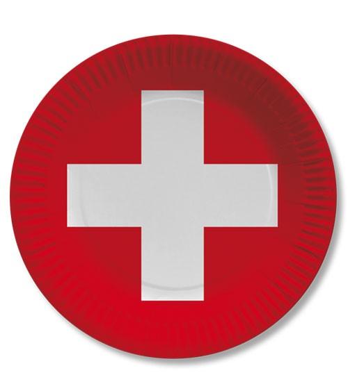 """Pappteller """"Schweiz"""" - 10 Stück"""