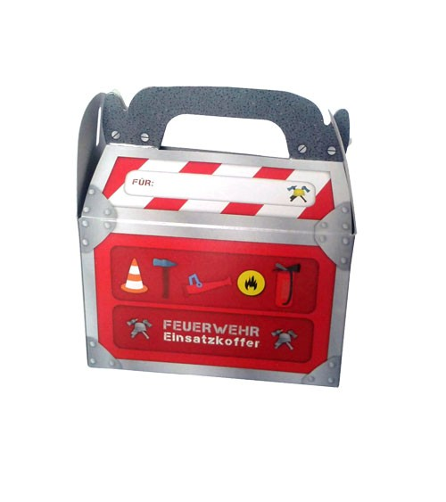 """Geschenkebox """"Feuerwehreinsatz"""" - 6 Stück"""