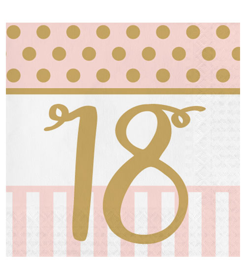 servietten rosa party 18 geburtstag 20 st ck. Black Bedroom Furniture Sets. Home Design Ideas