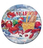 """Pappteller """"Seafood"""" - 8 Stück"""