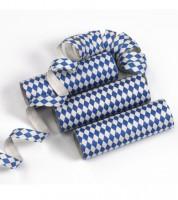 """Papierluftschlangen """"Bayrisch Blau"""" - 3 Stück"""