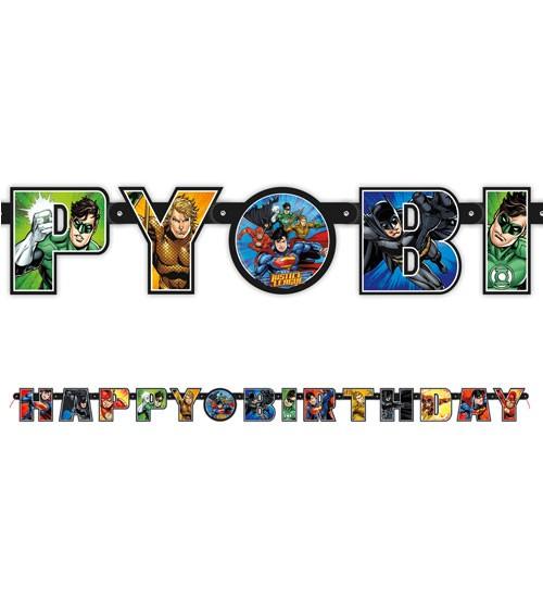"""Happy Birthday Girlande """"Justice League"""" - 8 m"""