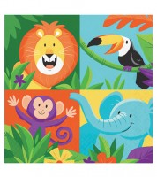 """Servietten """"Dschungel Safari"""" - 16 Stück"""