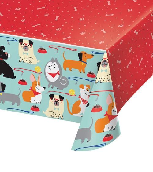 "Kunststoff-Tischdecke ""Hunde-Party"" - 137 x 259 cm"