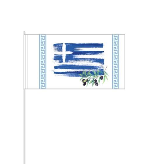 """Papierflaggen """"Griechenland"""" - 10 Stück"""