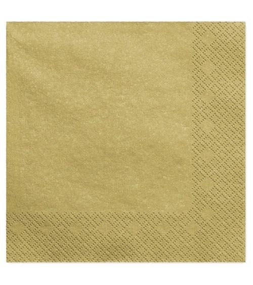 Servietten - gold metallic - 20 Stück